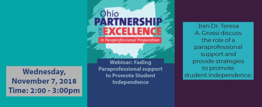 Ohio Partnership for Excellence in Paraprofessional Preparation
