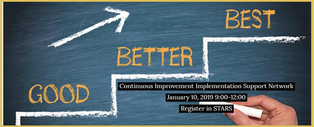 Good, better, best ways to improve your school!