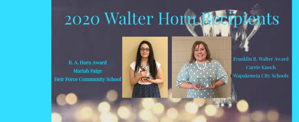 Walter Horn Winners photos