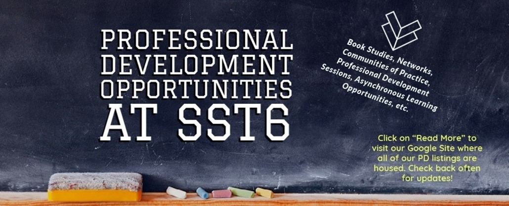 Blackboard Picture Background with Google Site Professional Development text and link